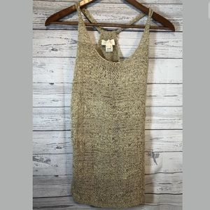 Miss Me Tank knit tan color size small top